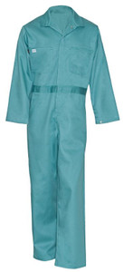 Flame Resistant FR Clothing, Indura® Snap Front Coveralls, UL Certified, Visual Green