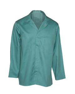 Flame Resistant FR Clothing, Indura® Work Coat, UL Certified, Visual Green