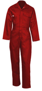 Flame Resistant FR Clothing, Indura® Zipper Coveralls, UL Certified, Red