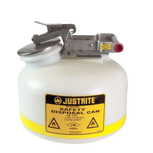 2 gallon Justrite Safety Can, Natural Polyethylene