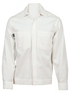 Flame Resistant FR Clothing, Westex UltraSoft® Smooth Front Shirt-Jacket, White