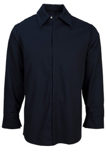 Flame Resistant FR Clothing, Westex UltraSoft® Work Shirt with Concealed Snaps, Navy
