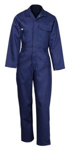 Flame Resistant FR Clothing, Indura® Zip Coveralls, UL Certified, Navy