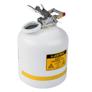 5 gallon Safety Can, Justrite Natural Polyethylene Disposal Can