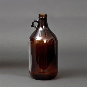 Clear Glass Jug, 2 Liter Solvent Bottle, 38-430 PTFE Lined Cap, each