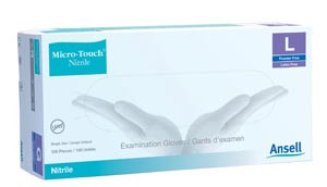 Ansell Micro-Touch® Nitrile Powder-Free Synthetic Medical Exam Gloves, case/2000