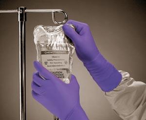 Halyard Purple Nitrile-Xtra Exam Gloves, Powder-Free, Long, Textured Finger-tips, case/500