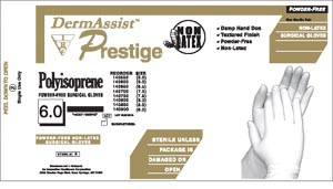 Prestige® DHD Powder-Free Latex Surgical Gloves, Sterile, Moistened, 200 pairs