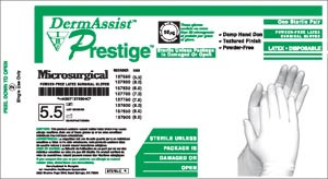 Prestige® Microsurgical Powder-Free Latex Surgical Gloves, Sterile, Textured, 100 pairs