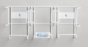 """Tech-Med Glove Dispenser, Triple Box, Vinyl-Coated Steel, 7-1/2"""" x 17"""""""