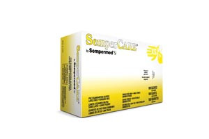 Sempercare® Vinyl Exam Gloves, Smooth, Powder-Free, Beaded Cuff, case/1000