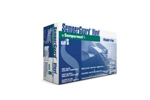 Semperguard® Disposable Industrial-Grade Gloves, Vinyl, Powder-Free, Smooth, Beaded, case/1000