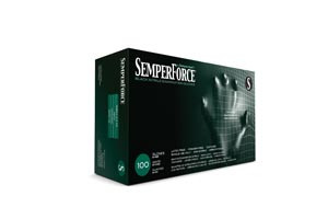Semperforce Nitrile Exam Powder-Free Textured Gloves, Exam Gloves, Nitrile, Black, case/1000
