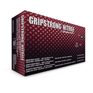 Gripstrong® Nitrile Gloves, Medium, case/1000