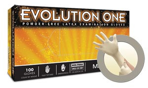 Ansell Microflex Evolution One® Exam Gloves, Powder-Free, Latex, Textured, case/1000