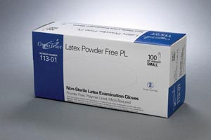 Omnitrust Latex Powder-Free Pl Exam Gloves, Latex, Powder-Free, case/1000