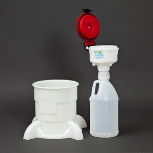 "4"" ECO Funnel® System, 2 Liter Jug with Handle, Secondary Container"