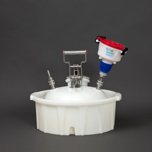 """4"""" ECO Funnel® System, 2 Gal, SS Quick Disconnect, Secondary Container"""