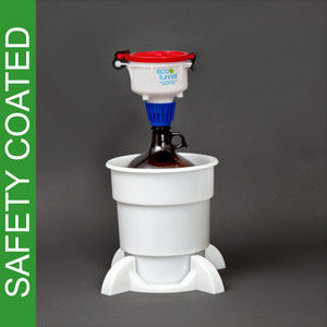 "4"" ECO Funnel® System, 4L Safety Coated Bottles, Secondary Container"