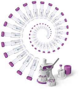 Mini-UniPrep G2, 0.45um, Glass Microfiber, Sterile, Slit Septum, Glass & PP, Silicone/PTFE Liner, pack/100