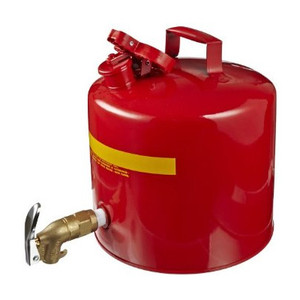 Eagle® Faucet Can, 5 gallon Red Steel Safety Can with Brass Faucet