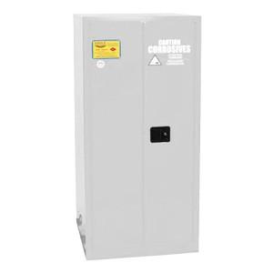 Eagle® Acid & Corrosive One Drum Vertical Metal Safety Cabinet, 55 Gal., 1 Shelf, 2 Door, Self Close, White