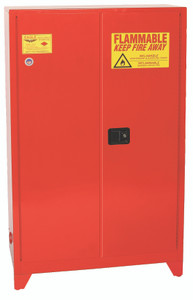 Eagle® Paint & Ink Tower Safety Cabinet, 60 Gal., 5 Shelves, 2 Door, Manual Close, Red