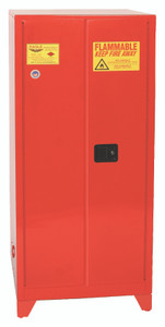 Eagle® Paint & Ink Tower Safety Cabinet, 96 Gal., 5 Shelves, 2 Door, Manual Close, Red