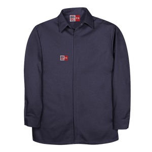 Food Processing Shirt with Concealed Snap Front Closure For Men