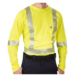 High Visibility Athletic Performance T-Shirt With Reflective Material For Men