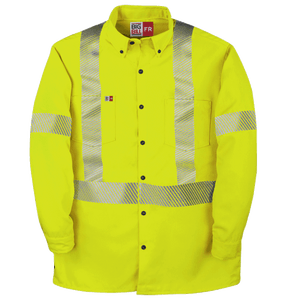 High Visibility Westex DH Button-Down Dress Shirt with Reflective Material