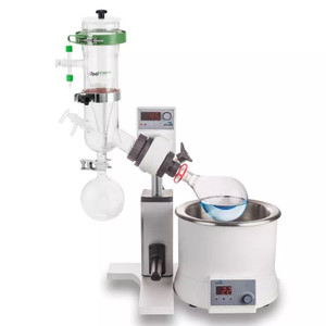 SCI100-S 5L Rotary Evaporator, Dry-Ice Condenser, Manual Lift w/ 5L Bath, 1000ml Evaporating Flask, 1000ml Receiving Flask