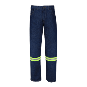 Relaxed Fit Jeans with Reflective Material For Men