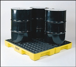 Eagle® 4-Drum Spill Pallet, Modular Spill Platform