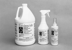 Metrex Envirocide® Hospital Surface & Instrument  Cleaner, 24 oz Bottle & Sprayer, case/12