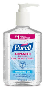 Purell® Advanced Instant Hand Sanitizer, 8oz Pump Bottle, case/12