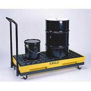 Eagle® Mobile Spill Pallet, 2-Drum Dolly Rolling Platform