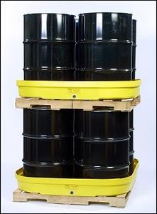 Eagle® 4-Drum Spill Pallet, Budget Basin