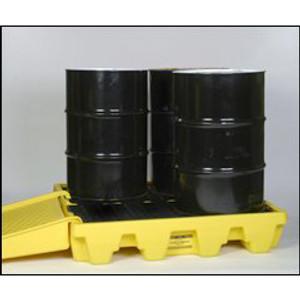 Eagle® Drum Platform, 4-Drum Low Profile Containment Pallet