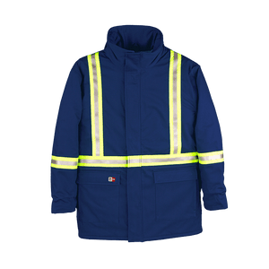 Winter Parka with Reflective Material For Men