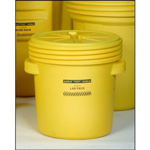 Eagle® Drum Containment 20 gal Lab Pack Drum, Screw Top Lid, Yellow