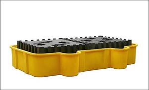 Eagle® Double IBC Platform, 500 gal Poly IBC Containment Pallet