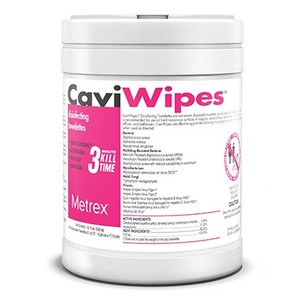Metrex Caviwipes Disinfecting Towelettes, 160 Wipes, case/12
