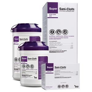"Super Sani-Cloth(R) XL Germicidal Wipes, 11.5"" Individual Packets, 50 per box, case/3"