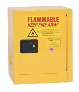 Eagle® Flammable Cabinet, 4 gallon Cabinet 1 Door, Self-Closing
