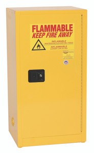 Eagle® Flammable Cabinet, 16 gallon Cabinet 1 Door, Self-Closing