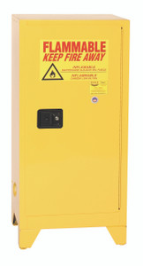 Eagle® Flammable Cabinet, 16 gallon Tower Cabinet 1 Door, Self-Closing