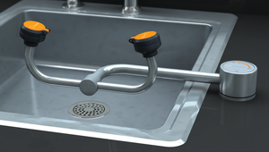 Eyewash, Deck Mounted AutoFlow 90 Swivel, All-Stainless Steel, Right Hand Mounting