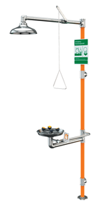 All-Stainless Steel Barrier-Free Safety Station with WideArea Eye/Face Wash