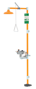 Safety Station with Eyewash, Stainless Steel Bowl